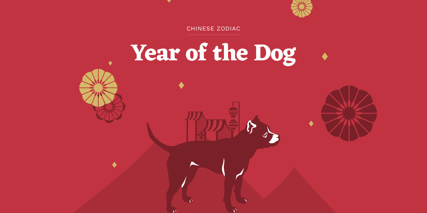 Year of the Dog - Chinese Zodiac 2018
