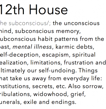 12th House Astrology